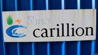 Defaced Carillion sign