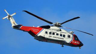 A coastguard helicopter - library pic