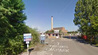 Entrance to Calon Energy site in Newport