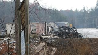 Последствия пожара в Теннесси