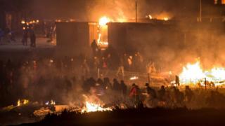 آتش سوزی اردوگاه پناهندگان
