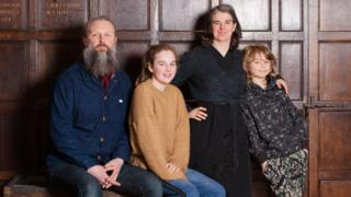 Gary Winters and Grace Surman with children Hope and Merrick