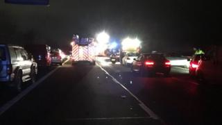 Scene of the M40 crash