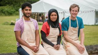This year's finalists Tamal (L), Nadiya (C) and Ian (R)