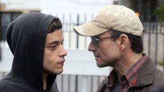 Remi Malek and Christian Slater