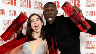 Stormzy and Dua Lipa