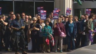 striking lecturers