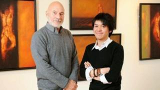 Sir Patrick Stewart with Frank To