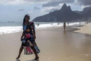 "Isabel Antonio, a 16-year-old singer and refugee from the Democratic Republic of Congo, poses for a portrait at Ipanema beach in Rio de Janeiro, Brazil on December 6, 2017. She lost her country and childhood in one of Africa""s most terrible wars, but Congolese refugee Isabel Antonio has won the hearts of millions of Brazilians with her performances on The Voice Brasil."