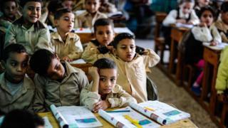 تلاميذ في مدرسة مصرية