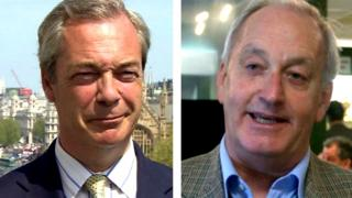 Nigel Farage and Neil Hamilton