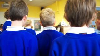 Backs of children's heads