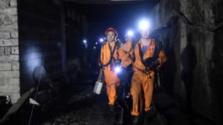 Аварийная шахта в Китае