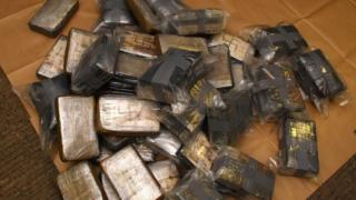 Parcels of the seized cocaine