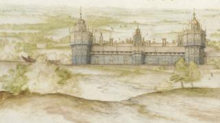 Nonsuch Palace from the South by Joris Hoefnagel