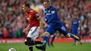 Rooney in his first match for Everton.