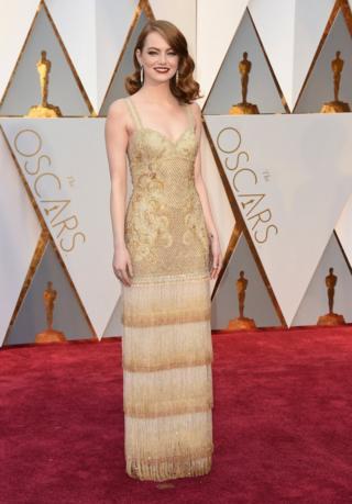 Emma Stone arrives