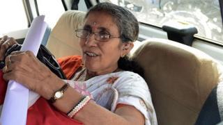 Indian prime minister Narendra Modi's wife, Jashodaben, in November 2014