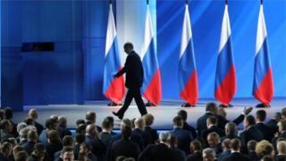 Путин Федерация кеңешине жылыдк кайрылуу сөз менен чыгып сүйлөдү, 15-январь