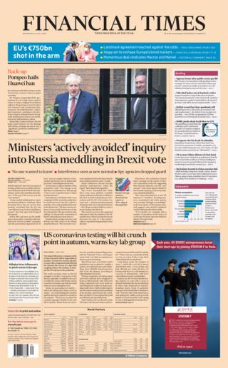 Financial Times 22 July 2020