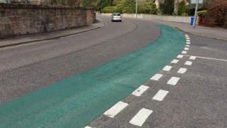 Green paint on Culduthel Road