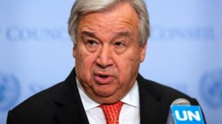 संयुक्त राष्ट्र महासचिव एंटोनियो गुटेरेस