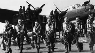 Lancaster bomber crew, April 1943