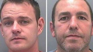 Det Con Michael Stokes, left, and ex-detective Stephen Phillips denied theft