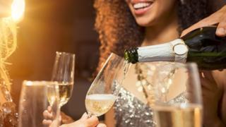 Celebración con champán