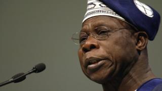 Former Nigeria President Olusegun Obasanjo don dey call for peace for Nigeria