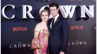 Actors Claire Foy and Matt Smith