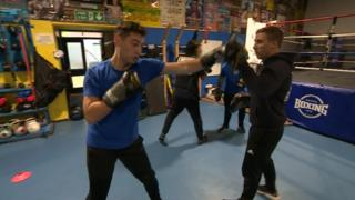 Image of people practicing Bristol Empire Fighting Chance boxing gym.