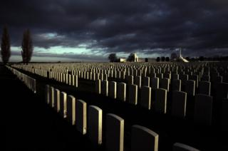 View of Tyne Cot cemetery in