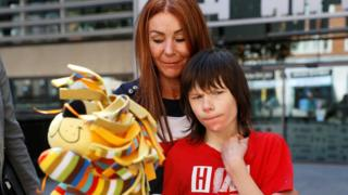 Billy Caldwell with his mother Charlotte
