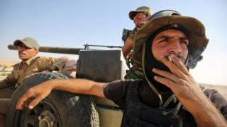 Iraqi Shia militias in an area south of Mosul. Photo: 22 October 2016