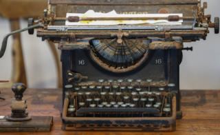 "An old typewriter on display at the South African Police Service""s (SAPS) Heritage Services Museum in Muizenberg, Cape Town, South Africa, 09 November 2017. South Africa has one of the highest violent crime rates in the world with a very high rate of murders, assaults, rapes and other crimes. The South African Police Service""s has released the crime statistics for 2017 showing as many as 2,129,001 serious crimes were recorded in 2017 an increase from 2015/16. The SAPS Heritage Services Museum dating back to before 1874 portrais various era""s of South African policing and documents famous crimes whilst also giving the visitor a view into a prison cell, courtroom and charge office."