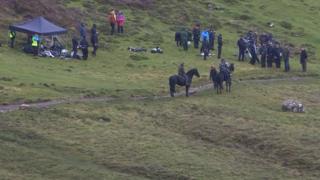 Film crew on Skye