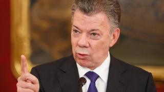 Colombia's President Santos in Vienna, Austria on 26 January 2018