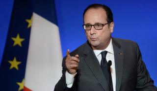 In this picture, French President Francois Hollande delivers a speech in Paris on 6 October, 2016