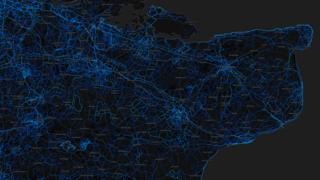 Kent - running routes (by Strava users 2015)