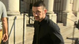 Luke Headech arriving at court