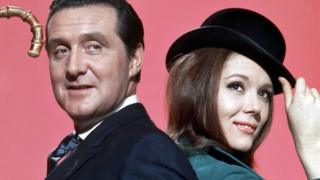 positive news Patrick Macnee and Diana Rigg in The Avengers