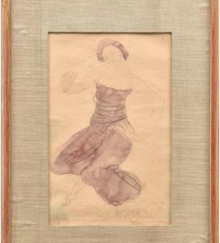Sketch that was believed to have been the work of Auguste Rodin