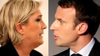 Marine Le Pen na Emmanuel Macron nibo bahanganye mu ngunga ya kabiri y'amatora y'umukuru w'igihugu mu Bufaransa