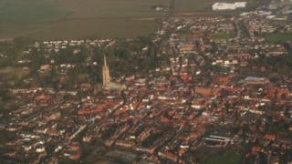 Aerial view of Louth