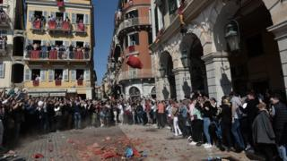 Clay pots being thrown in Corfu.