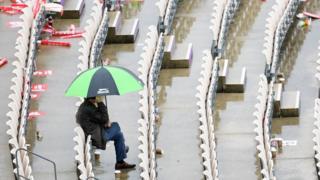 ساؤتھمپٹن میں بارش