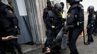 полиция в Каталонии