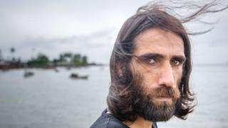 Behrouz Boochani, a Kurdish asylum seeker at Manus island