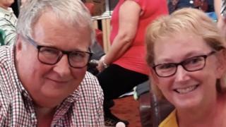 Julia Hann and husband David